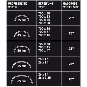 """SKS B35 Zestaw błotników rowerowych 28"""" z odblaskowymi paskami, black"""